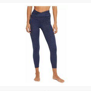 Nike Women's Yoga Dots Twist 7/8 Capri Tights Midnight Navy Size XL